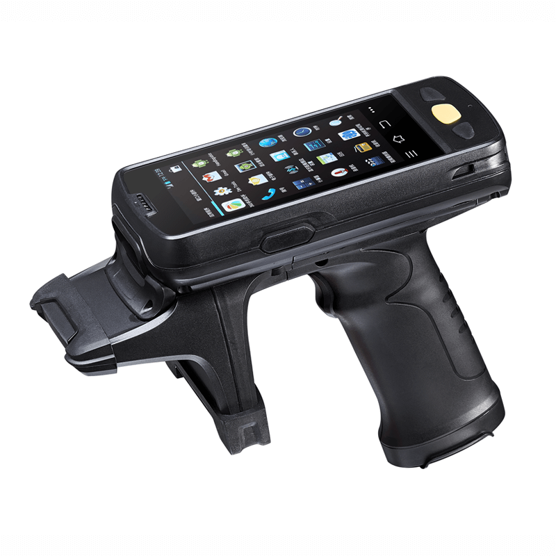 Android UHF rfid rugged portable handheld terminal with gun trigger scanning for asset tracking